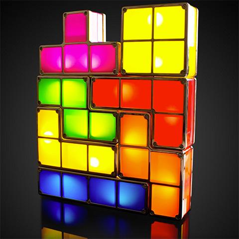 Bild Tetris Tischlampe Tetrimino Light